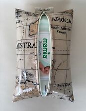 Baby Wipes holder case in World maps oilcloth