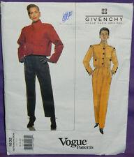 Uncut Vogue Givenchy Sz 8-12 Lined Crop Jacket & Front Pleat Pants Pattern 1632