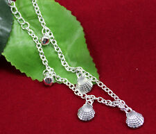 Fashion 925 sterling  Silver Anklet Foot Chain mussels Ankle Barefoot Bracelet