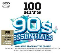 100 HITS-90'S ESSENTIAL - NO MERCY, SCATMAN JOHN, DR. ALBAN - 5 CD NEU