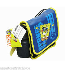 Spongebob Sponge Bob Messenger Insulated Lunch Box Bag with Water Bottle-New!