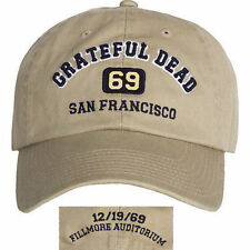 Grateful Dead San Francisco 1969 Avalon Music Rock Band Osfm Adjustable Hat Cap