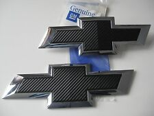 2016 17 Chevy Silverado 1500 OEM Black Carbon Fiber Bowtie Emblem Package LOT