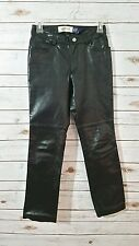 Gap Size 0 Preowned Black Leather Bootcut Biker Motorcycle Pants