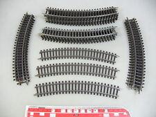 AN650-1# 20x Märklin/Marklin H0/AC Gleisstück/Schienen (K-Gleis): 2221 gebogene