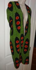 "Ikea Fleece Poncho Bathroom Robe Blanket PS Goinge Green Black 39x59"" Kids SL"