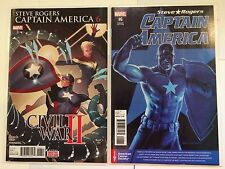 Captain America : Steve Rogers 6 Regular Cover + Variant Near Mint Condition