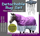 "COMFORT VERSATILE DETACHABLE 2000D 6'0"" WINTER PADDOCK HORSE RUG SET(p)"
