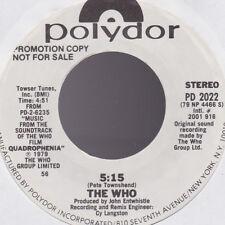 Who THE WHO 5:15 White Label Promo USA 45 W/O PS