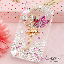 Iphone 4/4S Swarovski Crystal Delicate Pink Disney Fairy Bling Cover Case