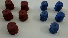 A/C Charging Port Service Caps R134a 13mm & 16mm LOT of 10 Pieces RED & BLUE A/C