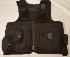 Ex Police Tactical Vest with Pouches & Klickfast Docks 36''-46'' Security (A277)