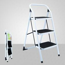 New 3 Step Ladder Folding Non Slip Safety Tread Heavy Duty Industrial Home Use