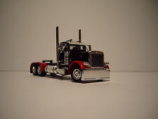 DCP 1/64 BLACK WITH RED FENDERS 379 PETERBILT DAYCAB