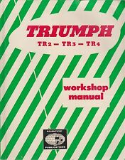TRIUMPH TR2 TR3 TR3A & TR4 ( 1952 - 1964 ) OWNERS WORKSHOP MANUAL