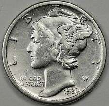 1928-s Mercury Head Dime.  High Grade.  88600  (INV. A)