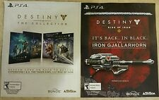 PS4 Destiny The Collection All 4 Expansion Packs Bonus Content Voucher Card Only