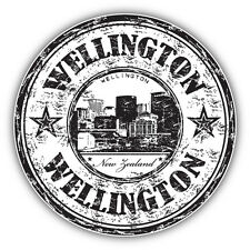 "Wellington City New Zealand Grunge Travel Car Bumper Sticker Decal 5"" x 5"""