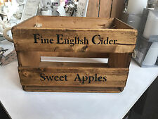 Anglais cidre en bois stockage coffre old display old box vin crate vintage large