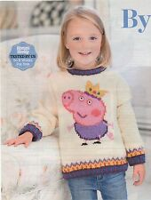 Knitting pattern george pig sweater jumper Peppa Pig's brother