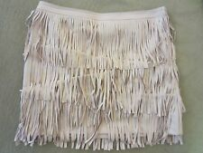 WOMENS H&M BY NIGHT COLLECTION PINK FAUX LEATHER FRINGE SKIRT SIZE 10 US/40 EUR
