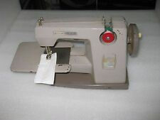 VINTAGE CHILDREN VULCAN HAND CRANK TOY SEWING MACHINE, WITH EXTENSION TABLE