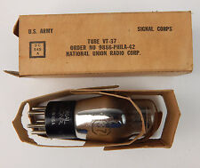 NOS US ARMY National Union vacuum Tube VT-37 New in Box Signal Corps