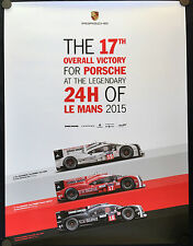 PORSCHE OFFICIAL 17th OVERALL VICTORY 919 HYBRID LE MANS SHOWROOM POSTER 2015