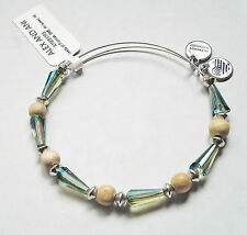 NWT Alex and Ani Seeds of Promise Milkweek Beaded Bangle Bracelet Silver Finish