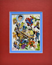 AMAZING SPIDER-MAN FAMILY / VILLAINS PRINT PROFESSIONALLY MATTED John Romita art