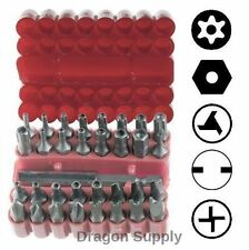 New 33pc Security Bit Set Tamper Proof - Torx Hex Star * FREE US SHIPPING *