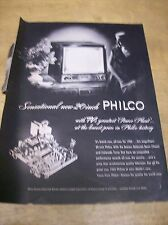 Original 1952 Philco Television Magazine Ad - Sensational New 20 Inch