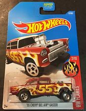 Hot Wheels 55 Chevy Bel Air Gasser CUSTOM Super with Real Riders
