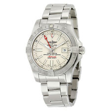 Breitling Avenger II GMT Silver Dial Automatic Mens Watch A3239011-G778SS