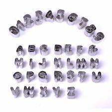 35 Großbuchstaben Zahlen Alphabet Ausstecher Set Tortendeko Marzipan Fondant