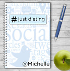 PERSONALISED A5 DIET DIARY, WEIGHT LOSS & FOOD TRACKER, DIETING, SLIMMING LOG 02