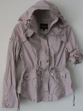 COLE HAAN authentic NWOT ladies XS pale pink rose zip jacket hooded rain coat