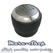 Black Leather 6-Speed MT Gear Shift Knob Lever for 03~08 Hyundai Tiburon/Coupe