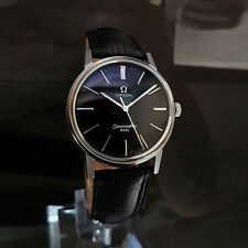 RARE VINTAGE OMEGA SEAMASTER 600 MEN'S MANUAL SS BLACK DIAL WATCH