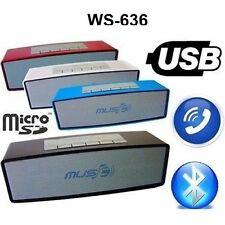 CASSA GRANDE PORTATILE BLUETOOTH POTENTE per SMARTPHONE PC SPEAKER ALTOPARLANTE