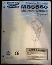 Stanley LaBounty MB5560 Mounted Hydraulic Breaker User's Manual, 08/2003 Ver. 2