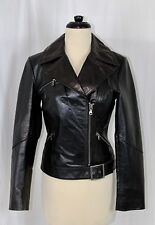 Womens EXPRESS Size Small S Black Leather Moto Biker Motorcycle Jacket