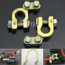 2Pcs New Auto Car Replacement Battery Terminal Clamp Clips Brass Connector Hot