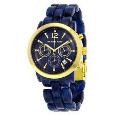Micahel Kors Audrina Chronograph Blue Dial Blue Acetate Ladies Watch MK6236