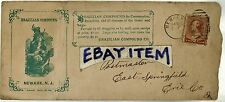 C-1895 Advertising postal cover BRAZILIAN COMPOUND Newark New Jersey COMSUMPTION