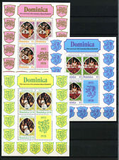 Dominica 1978 SG#MS615, 25th Anniv Of Coronation MNH Sheetlets Set #D38102