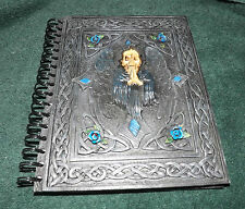 Resin Covered Grim Reaper Book Of Shadows - Journal  / Wiccan / Pagan