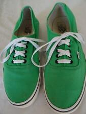 VANS 'Off The Wall' laced canvas shoe green US 12/UK 11.5 /Eur 46      257 P