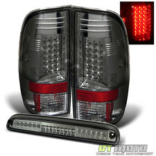 Smoked 2008-2016 Ford F250 F350 F450 Lumileds LED Tail Lights +3rd Brake Lamps