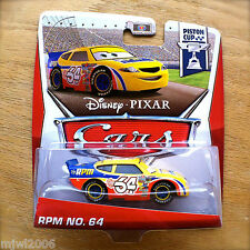 Disney PIXAR Cars RPM NO. 64 on 2013 PISTON CUP THEME CARD diecast 17/18 racer